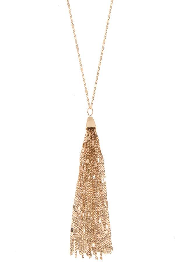 CHAIN DETAILED TASSEL NECKLACE SET