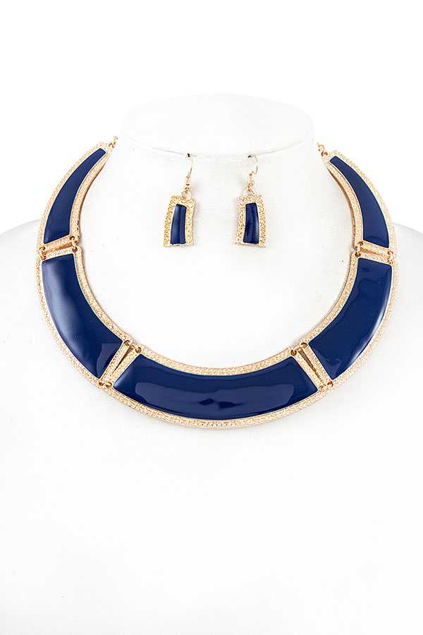 METAL LINK COLLAR NECKLACE SET
