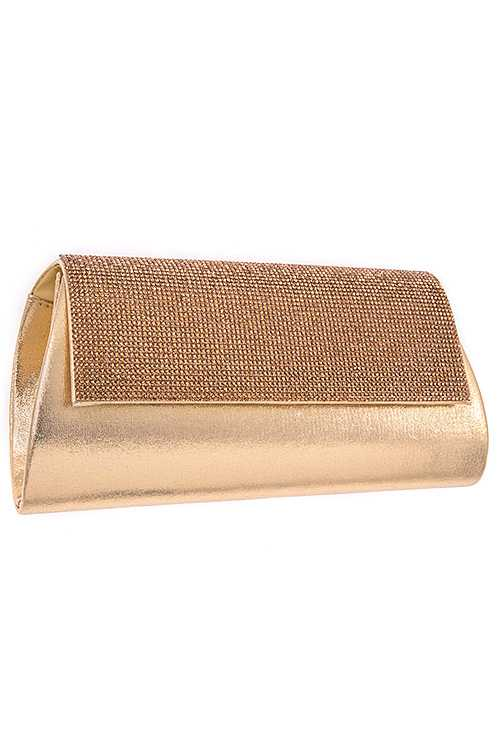 Rhinestone Pave Detailed Evening Clutch Bag