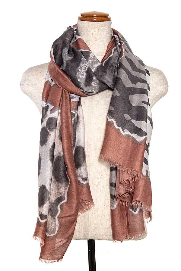 Mix Animal Print Oblong Scarf