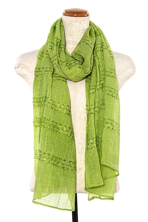 RUFFLED ACCENT OLBONG SCARF