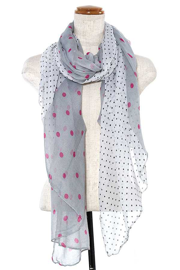 POLKA DOTTED OBLONG SCARF