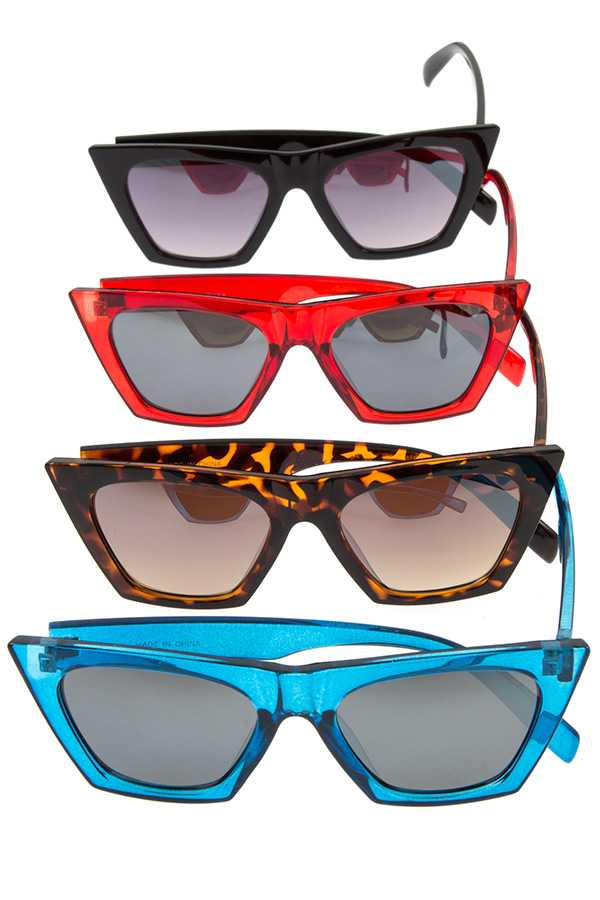 COLOR FRAMED EDGE FASHIONABLE SUNGLASSES PACK
