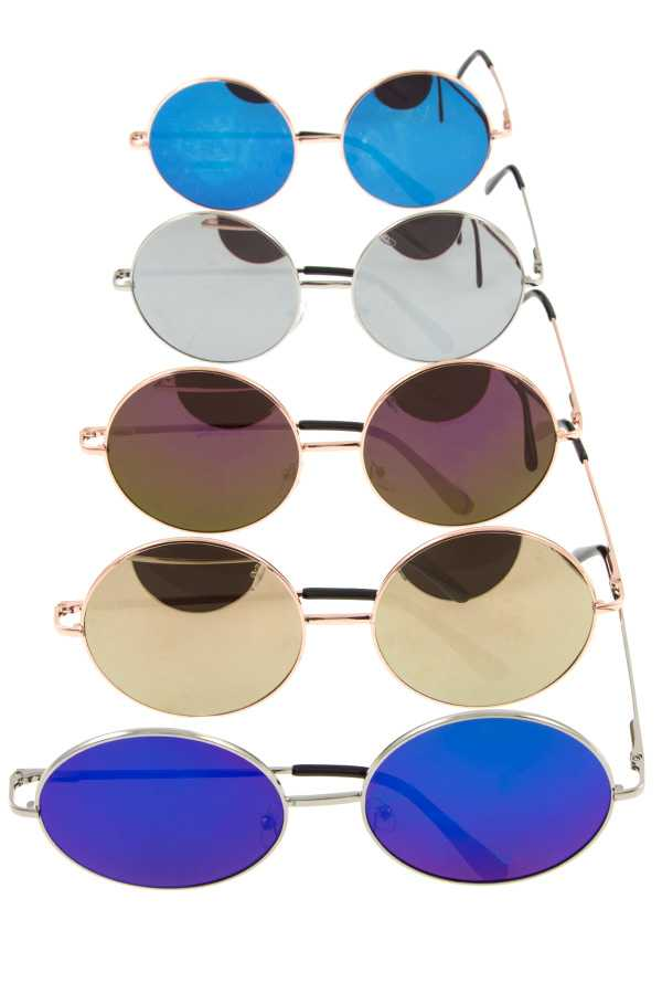 ROUND COLOR LENS FRAMED SUNGLASSES PACK
