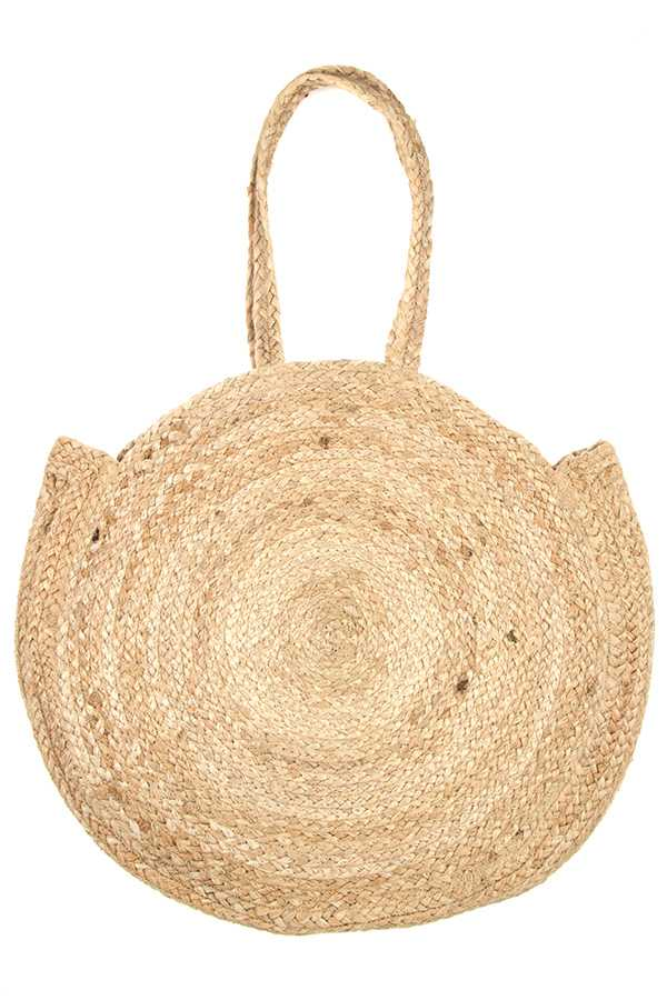 ROUND WOVEN LARGE STRAW TOTE BAG