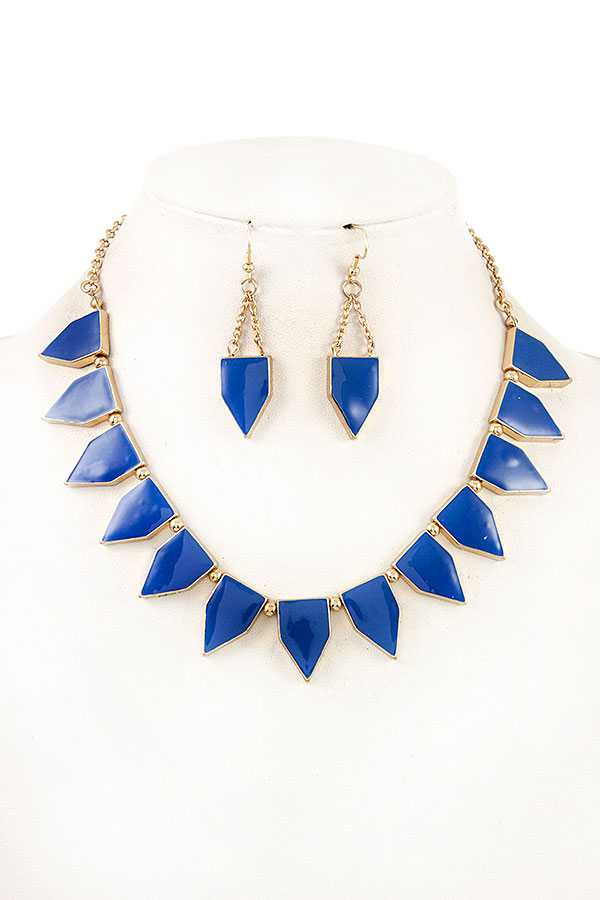 LINK GEO CUT SHAPE NECKLACE SET