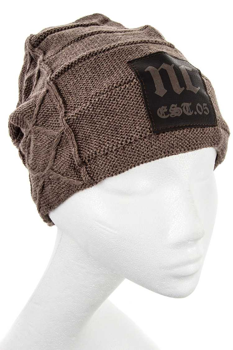 NC Lined Pattern Knitted Beanie
