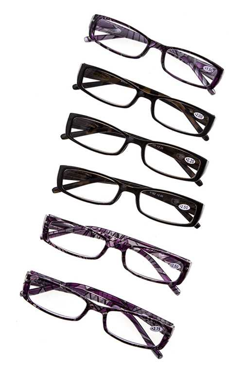 GEO DESIGN ASSORTED COLOR READING GLASSES