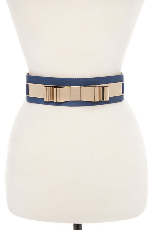 METAL BOW ACCENT WAIST BELT