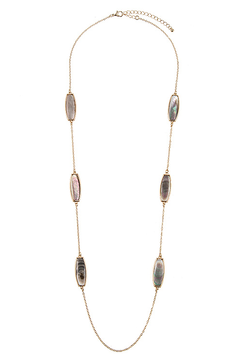 Elongated Swirl Accent Station Necklace