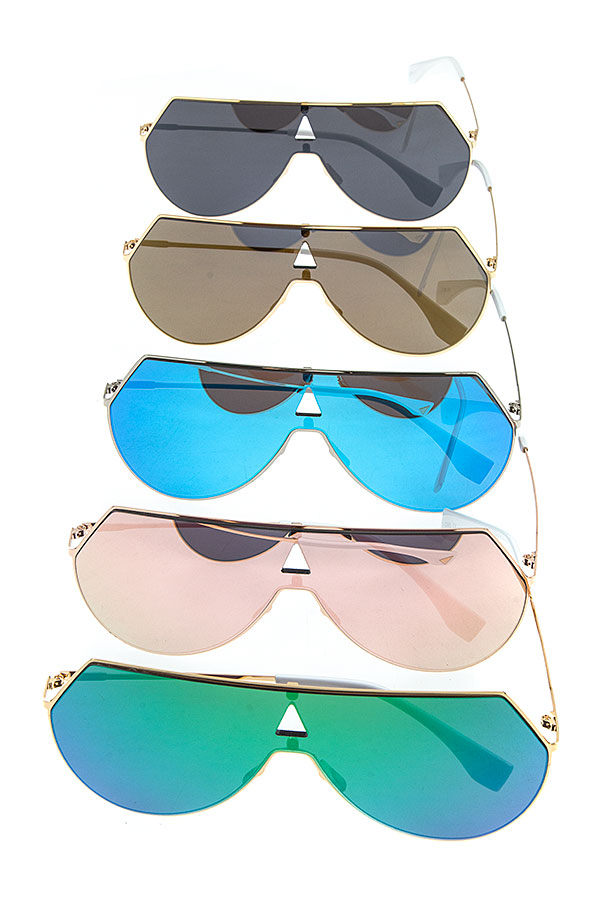 RIMLESS EDGED SHIEL SUNGLASSES