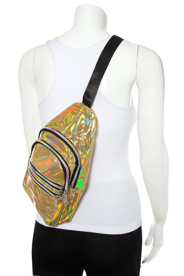 HOLOGRAPHIC FASHION SIDE BACKPACK