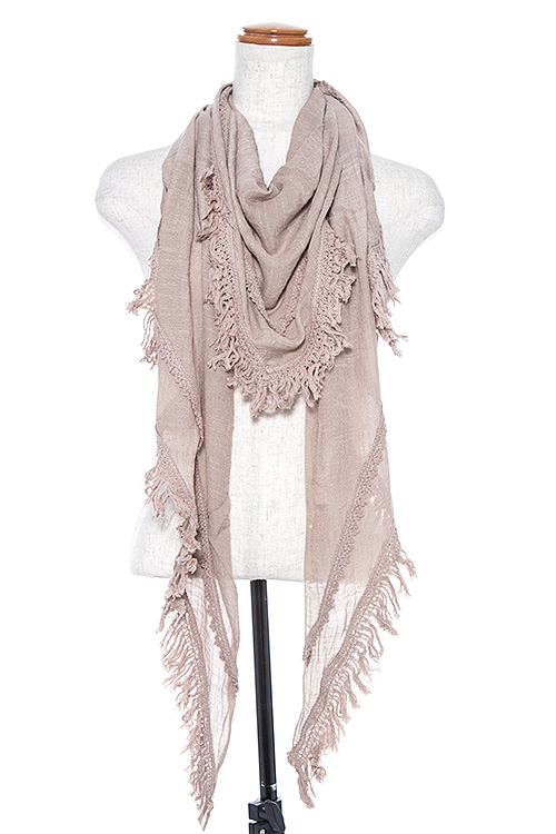 Triangle Fringe Oblong Scarf