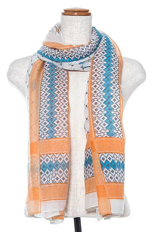 Mix Pattern Oblong Scarf