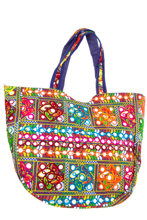 MULTI COLOR PATTERN TOTE BAG