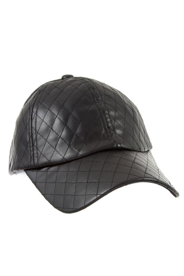 DIAMOND QUILT PATTERN FASHION CAP