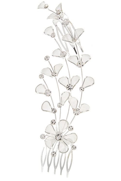 Floral Vine Detailed Hair Comb Insert