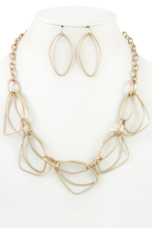 MULTI LINK METAL CHAIN NECKLACE SET