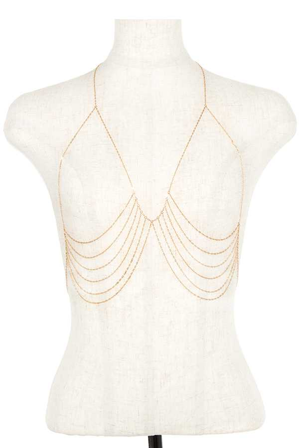 Draped Body Chain Jewelry