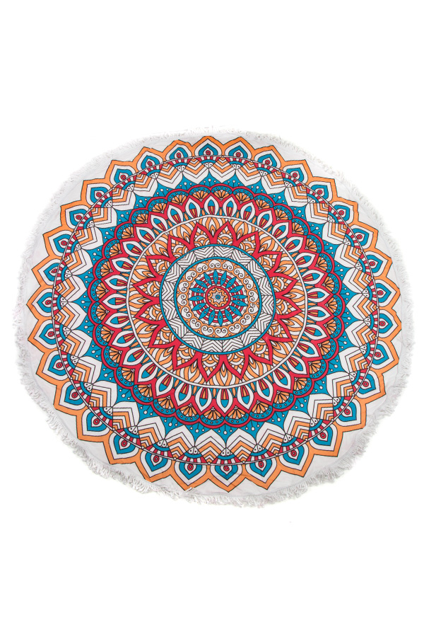 MANDALA PATTERN BEACH THROW
