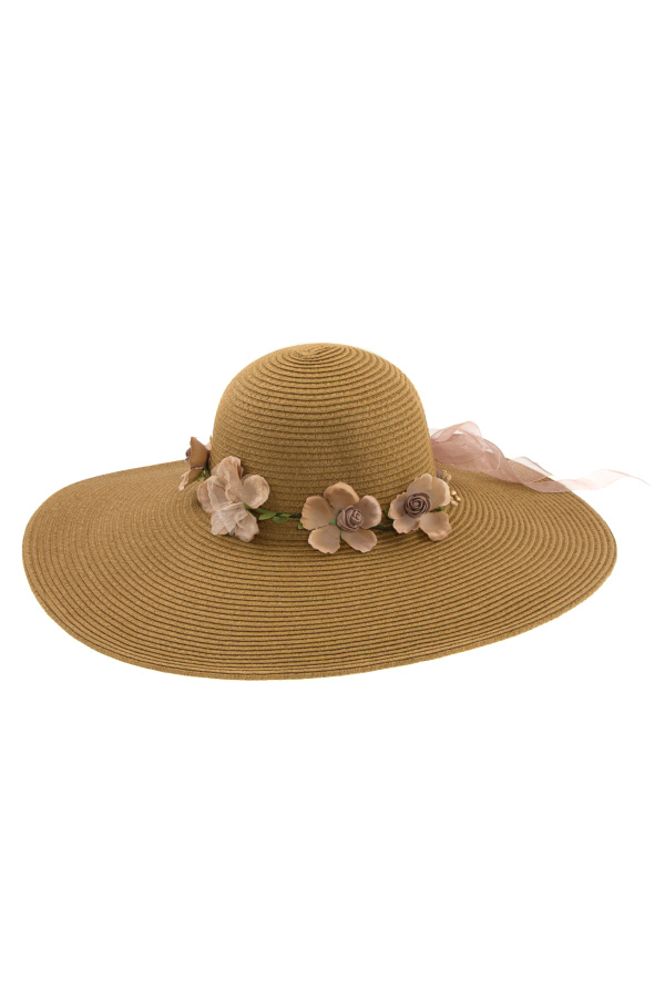 FLORAL BAND FLOPY SUNHAT