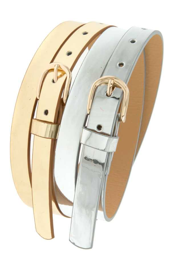 2PC PATENT THIN BELT SET