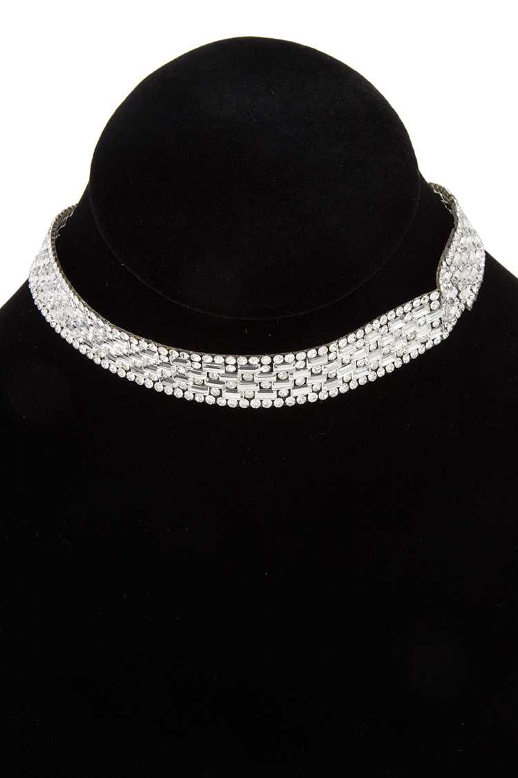 Crystal Pave Detail Choker Necklace