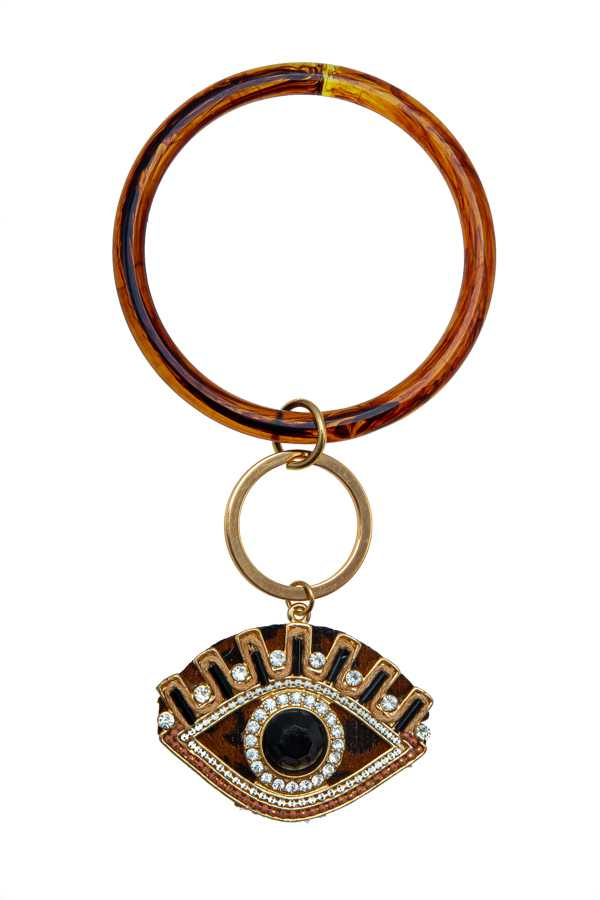 EVIL EYE TINY CHARM PENDANT KEY CHAIN