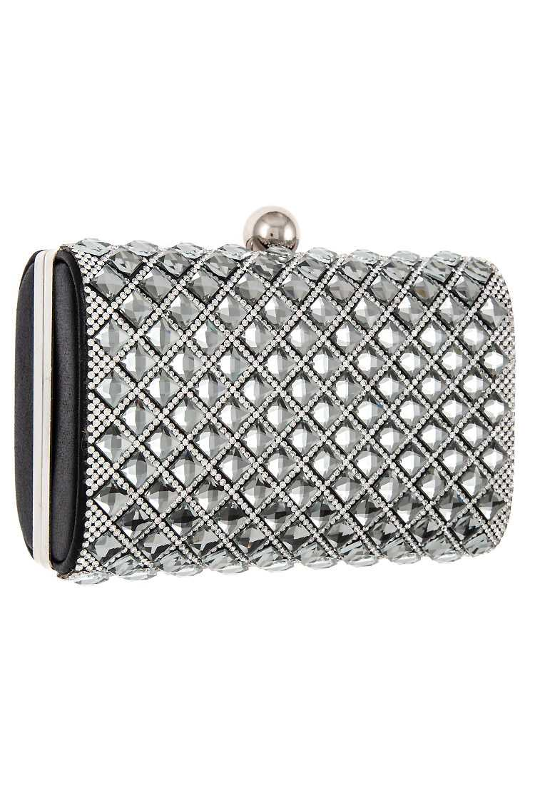 Diamond Pattern Crystal Mini Clutch Bag