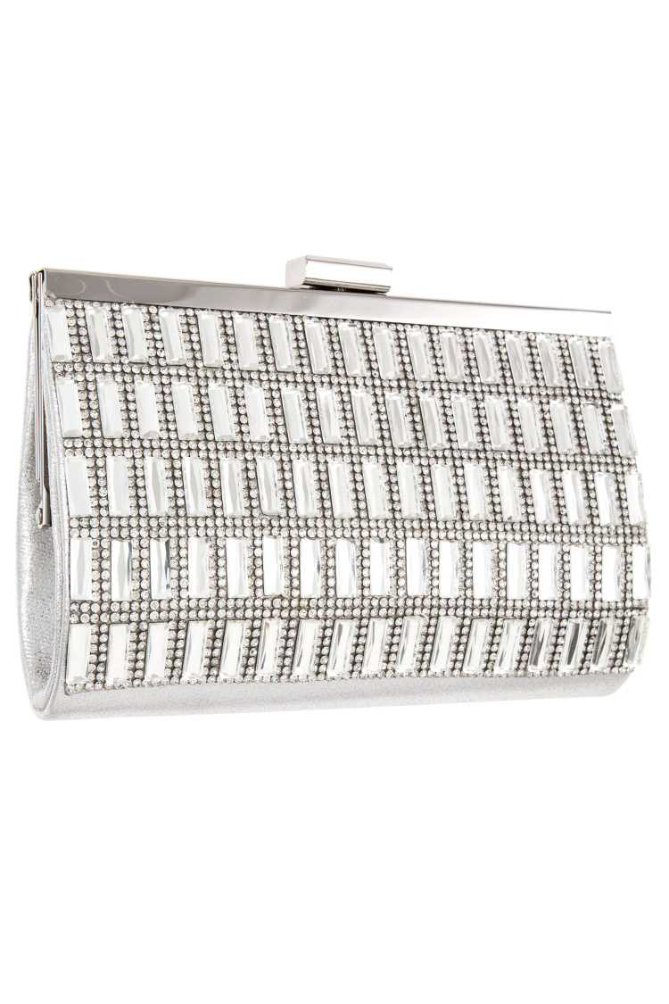 Mini Crystal Accent Evening Clutch Bag