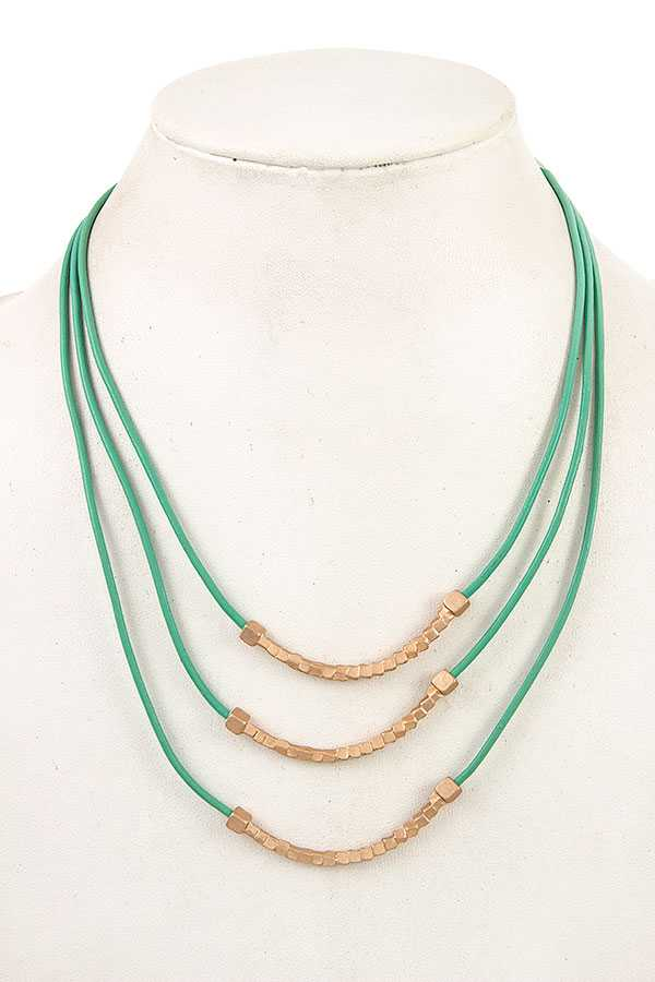 MULTI CORD BEADED NECKLACE