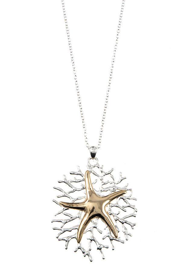 STARFISH ACCENT PENDANT NECKLACE SET