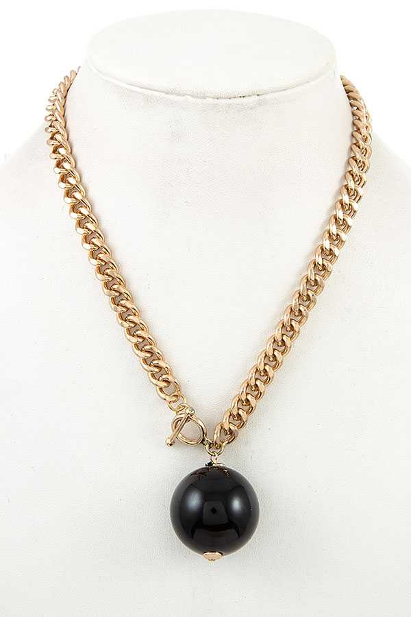 BALL BEAD CHAIN NECKLACE
