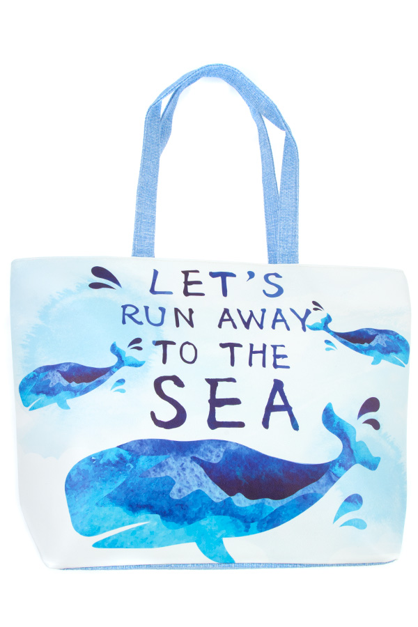 LETS RUN AWAY TO THE SEA TOTE BAG