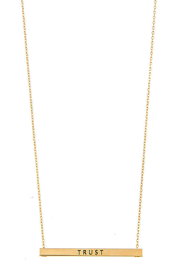 TRUST BAR PENDANT NECKLACE