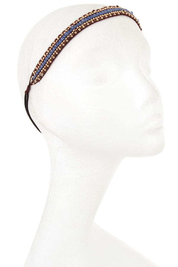 Beads with Crystal Lined Accent Hair Band