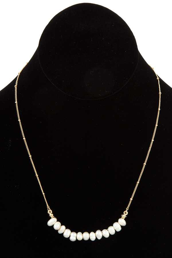 FRESHWATER PEARL LINK PENDANT SHORT NECKLACE