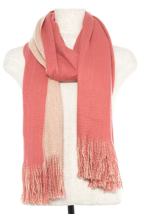 SOLID COLOR OBLONG KNITTED SCARF