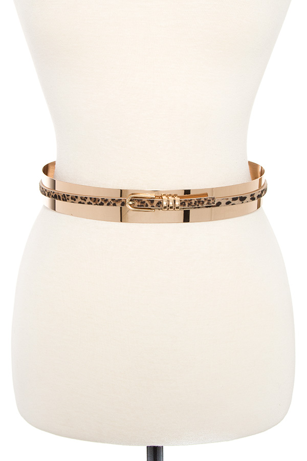 METAL ANIMAL PATTERN ACCENT BELT
