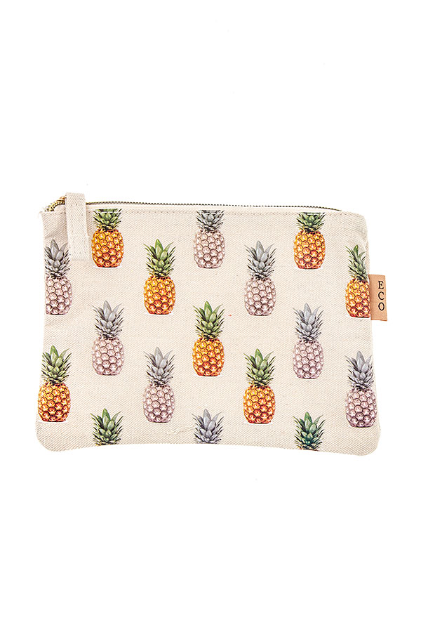 PINEAPPLE PRINT MINI POUCH BAG