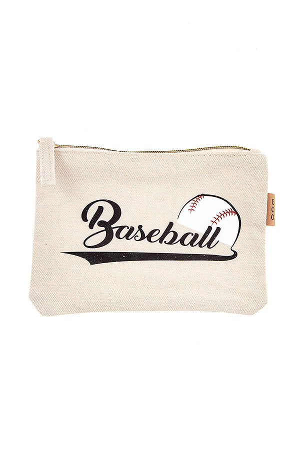 BASEBALL ACCENT POUCH BAG