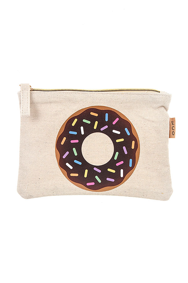 DONUT ACCENT POUCH BAG