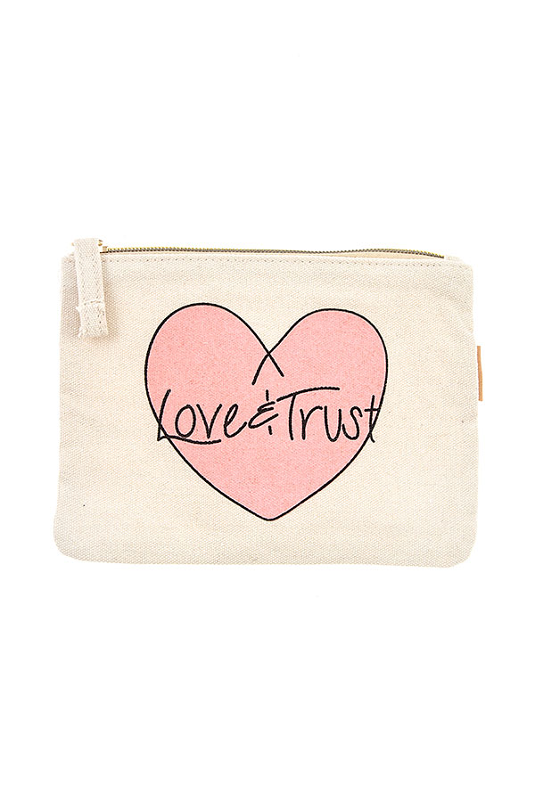 LOVE AND TRUST POUCH BAG