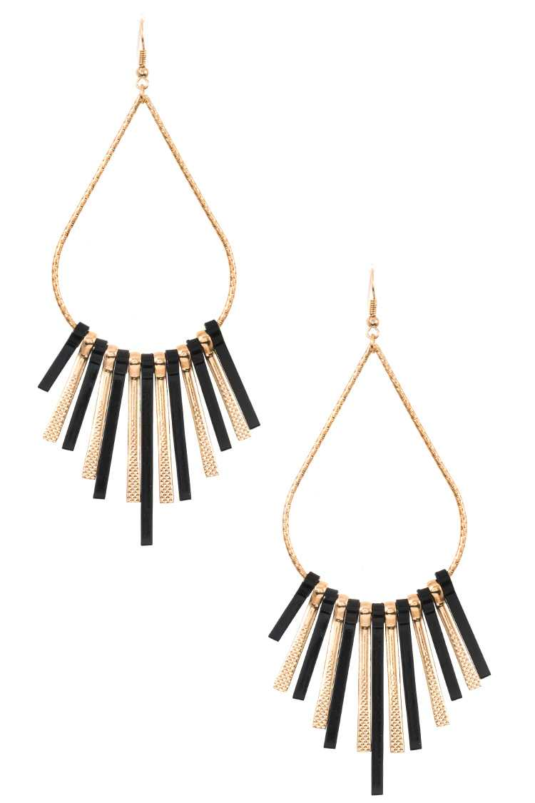 Teardrop Bar Fringe Dangle Earring