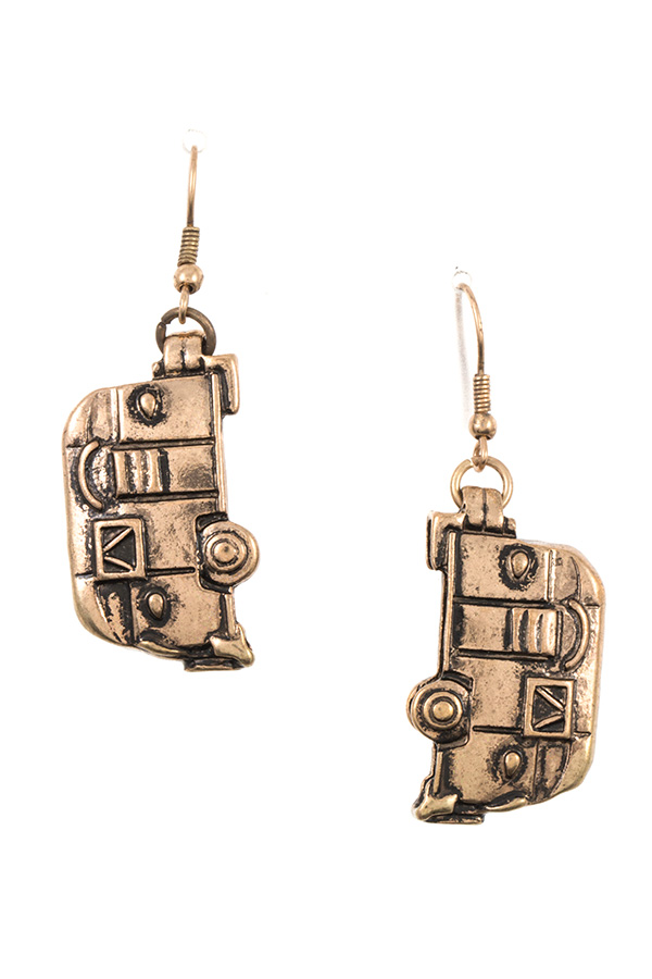 ETCHED CAMP VAN DANGLE EARRING