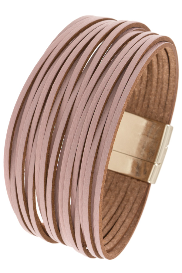 MULTI CORD FAUX LEATHER BRACELET