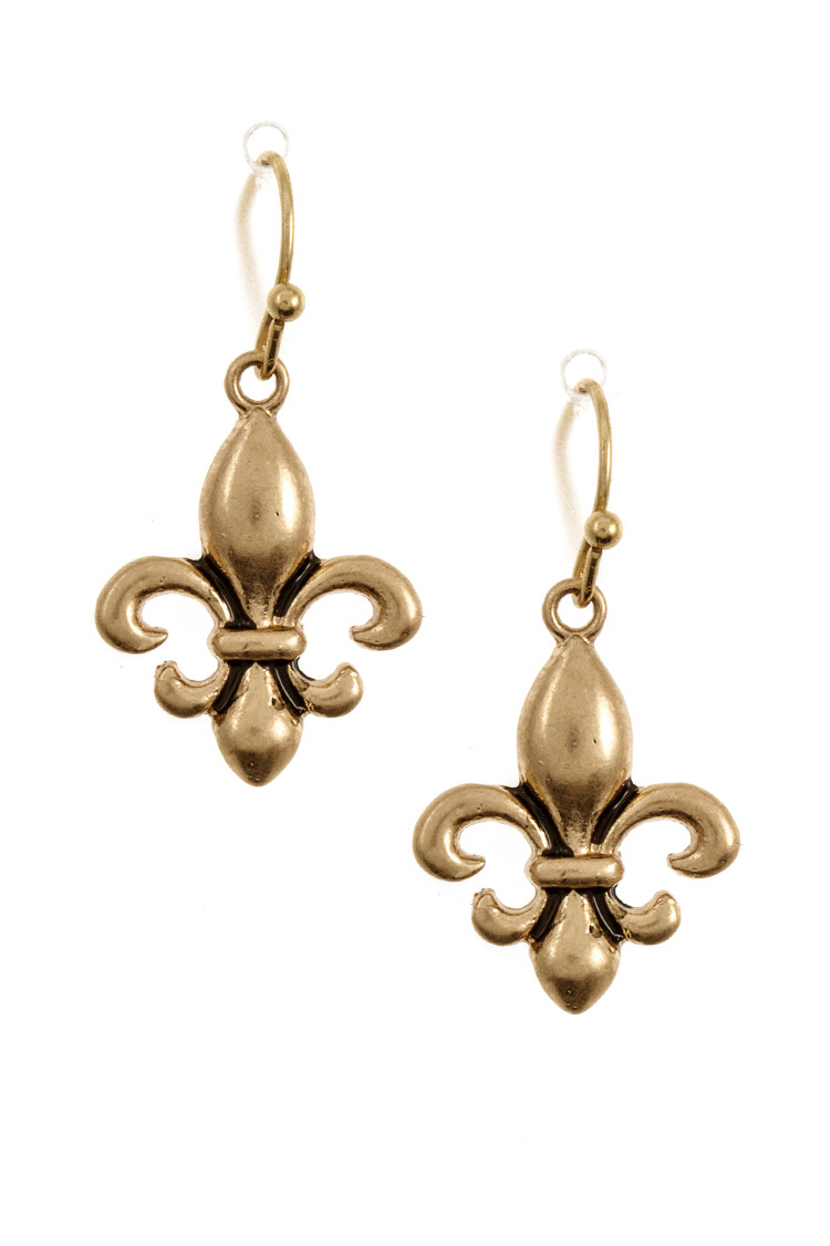 Fleur De Lis Dangle Earring