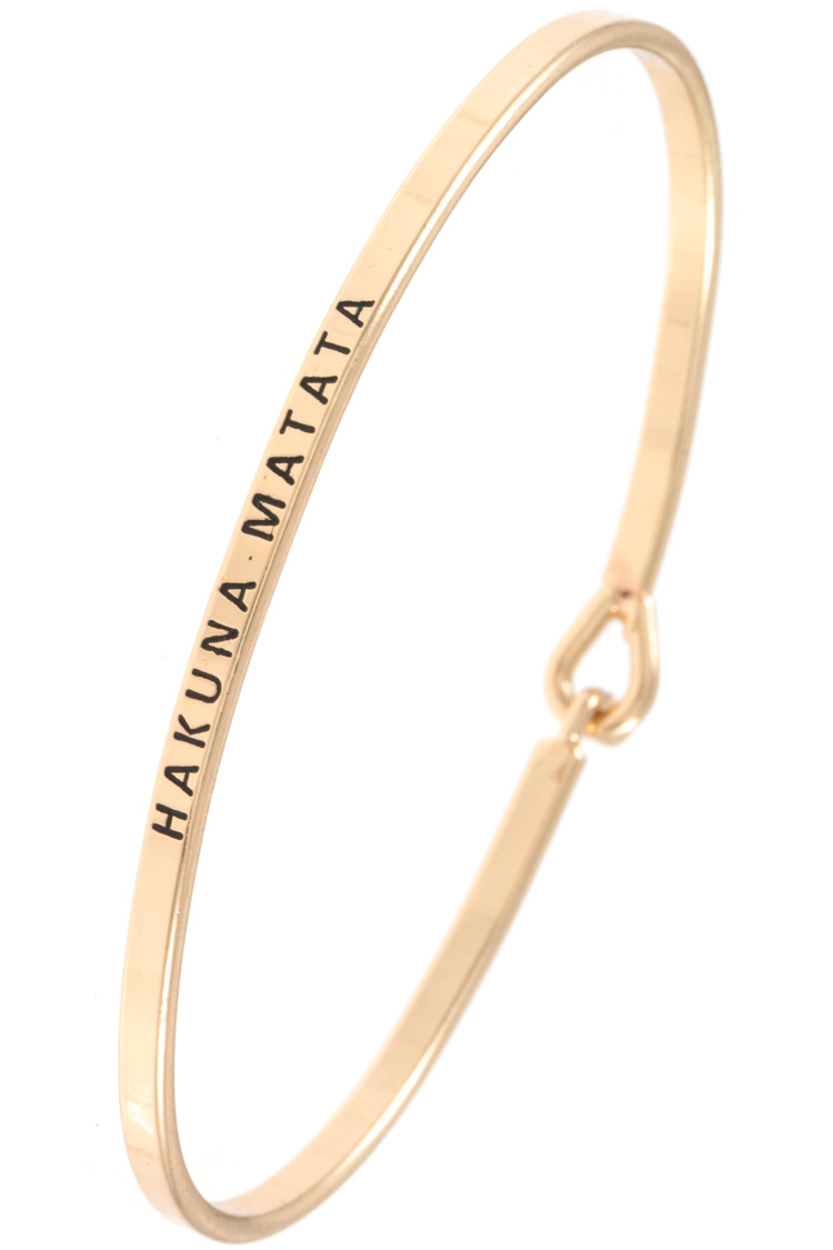 HAKUNA MATATA Etched Bangle Bracelet