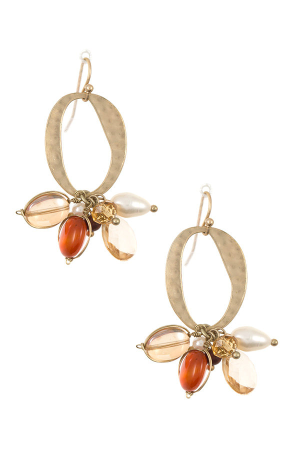 MULTI DANGLE GEM EARRING