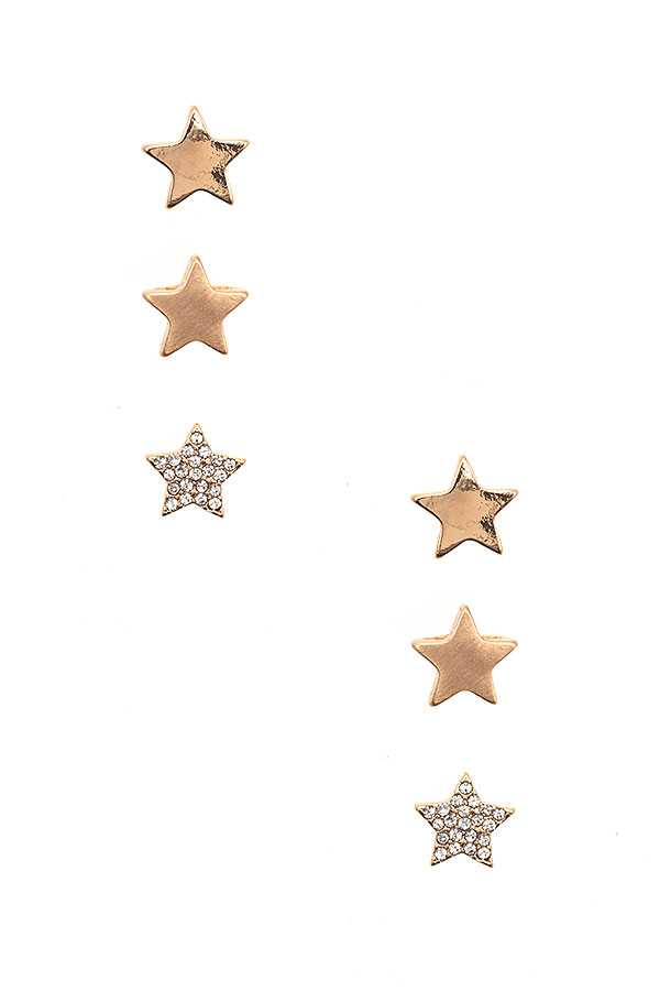 STAR POST EARRING SET